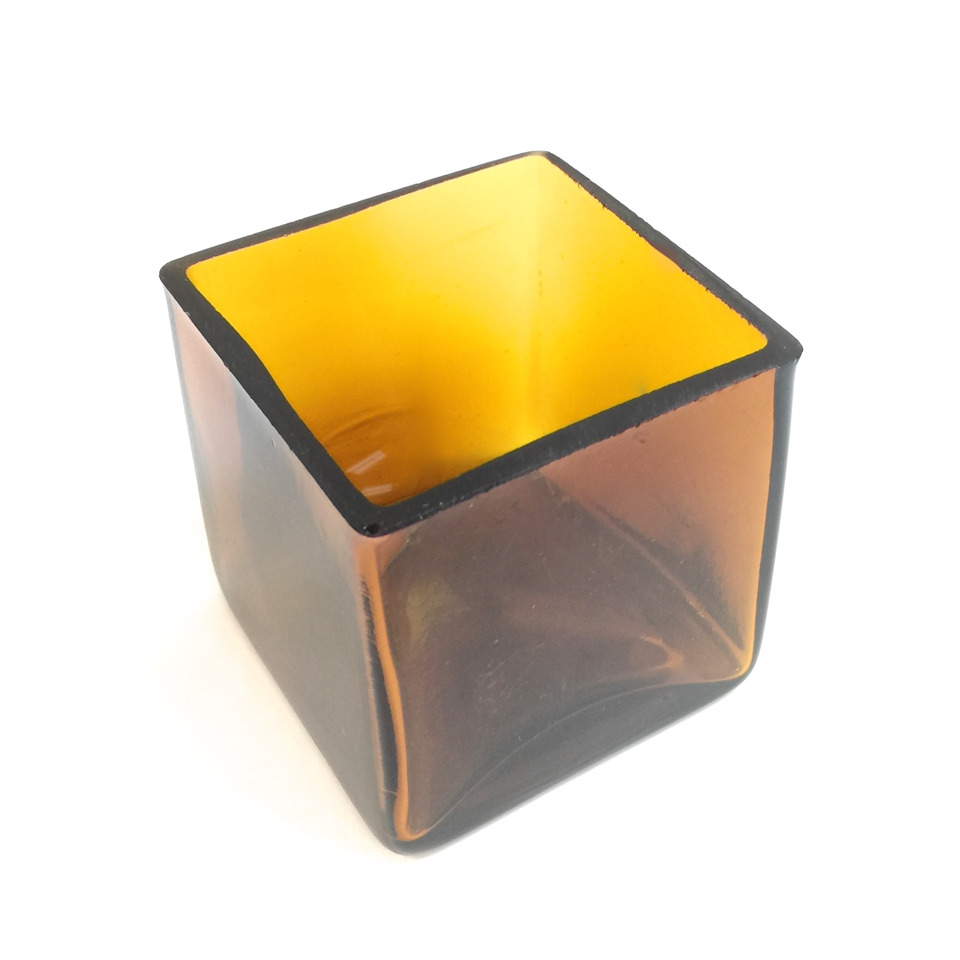 Square Amber Candle Holder