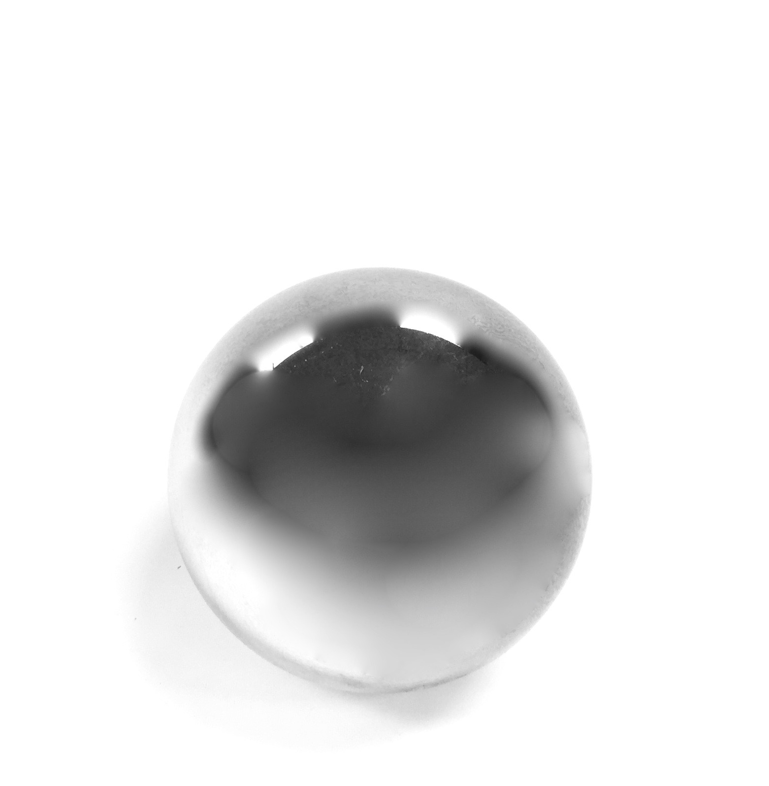Glass Sphere Silver 4""