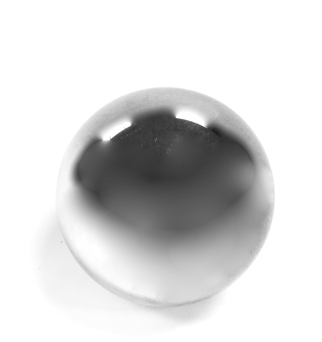 Glass Sphere Silver 6""