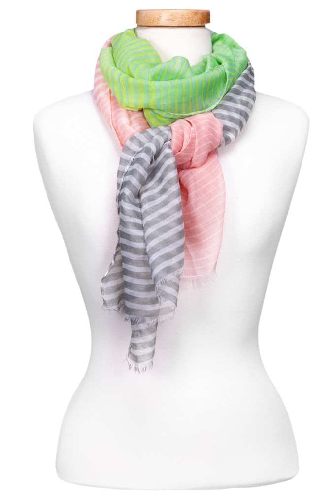 Three Way Stripes Scarf