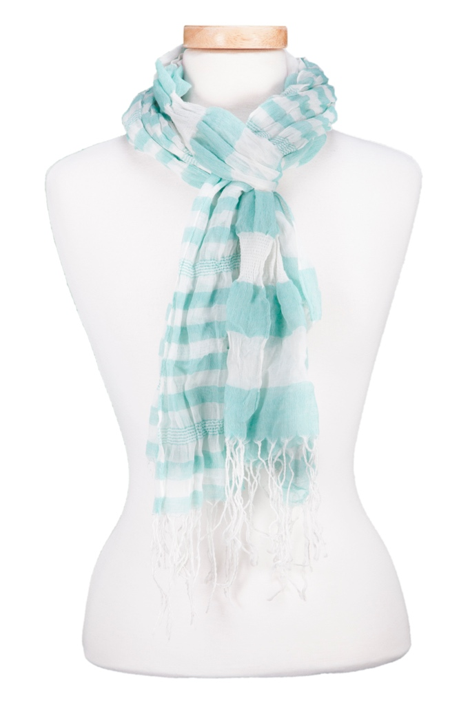 Beach Stripe Scarf asst