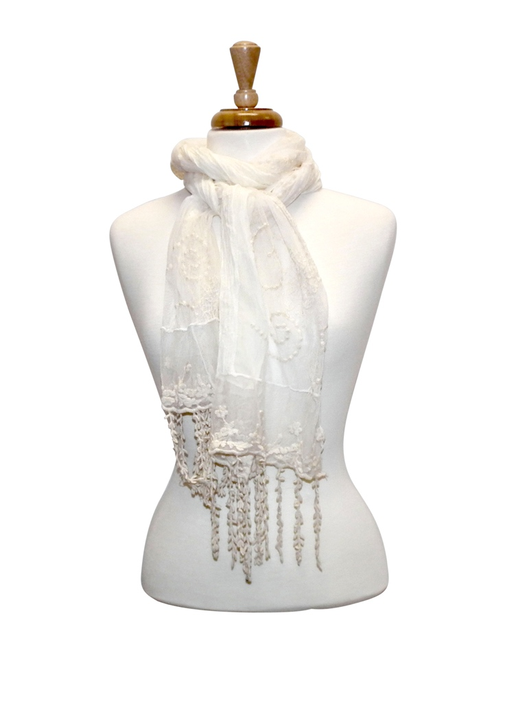 Colorful Vintage Lace Scarf asst