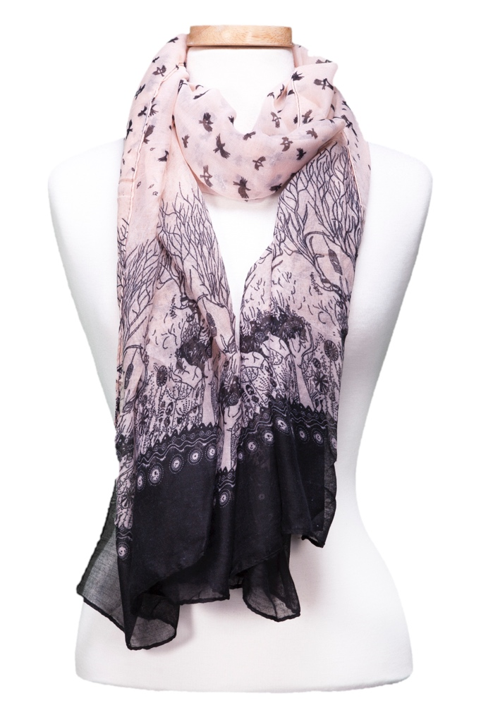 Nature Bird Scarf asst*