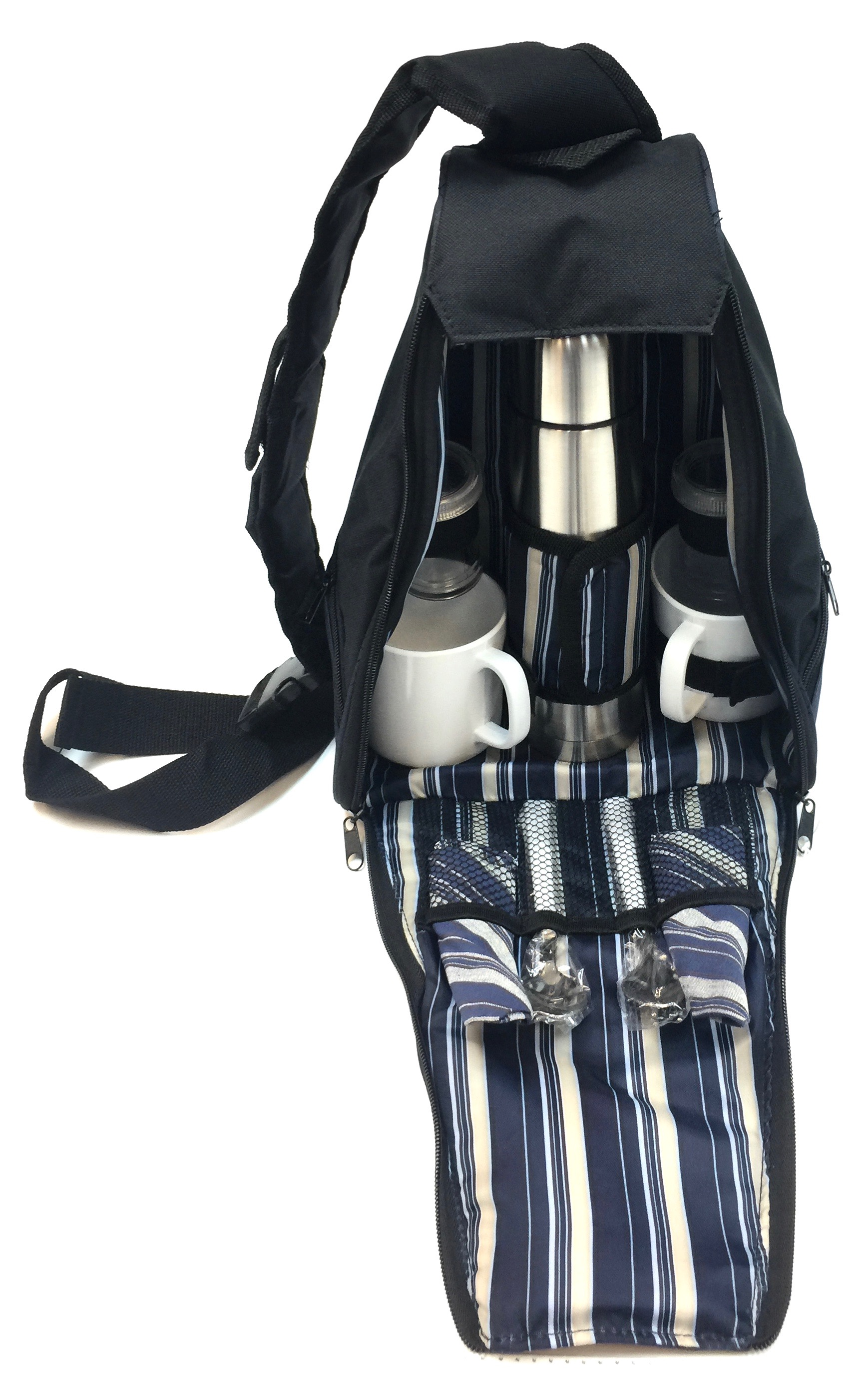Camping Backpack W/thermos/Utensils - Navy