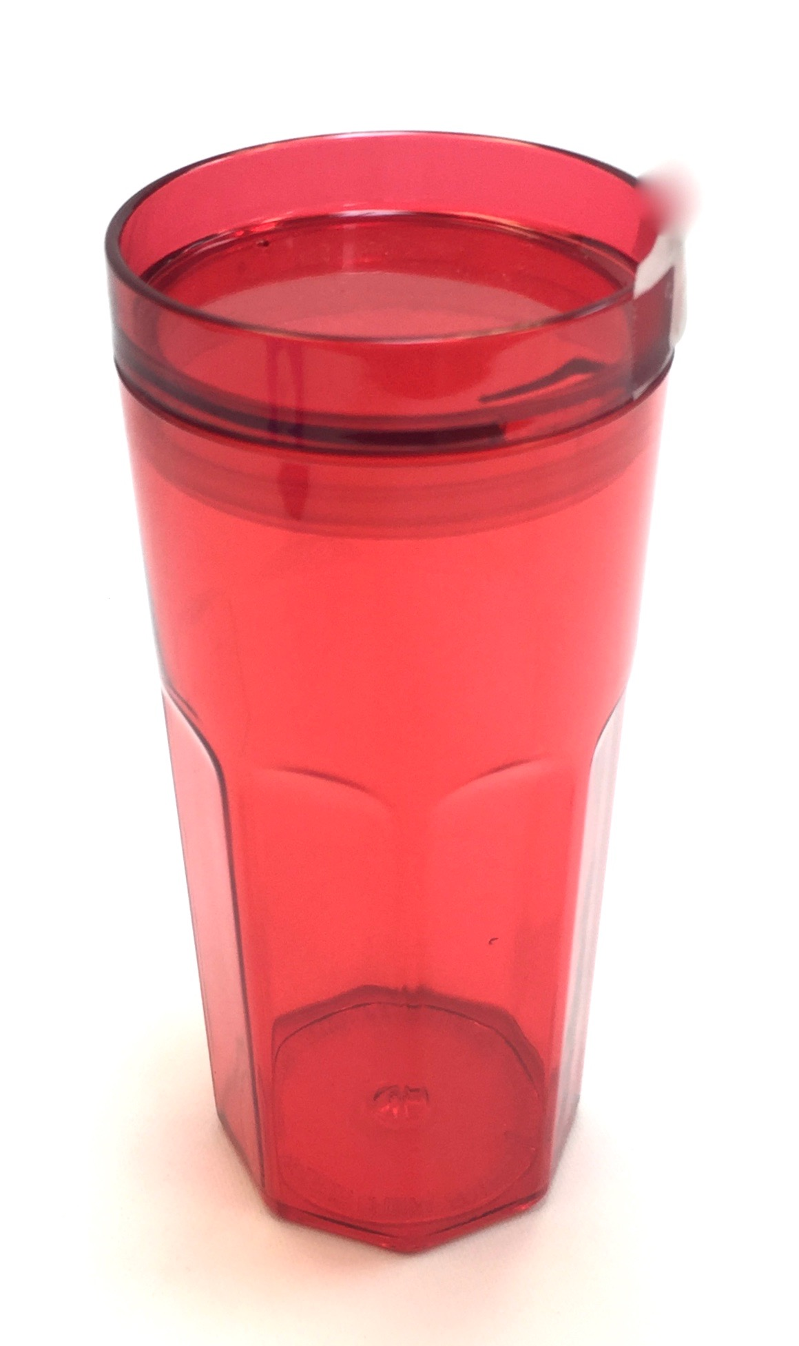Single Wall Retro Tumbler 17 Oz - Red