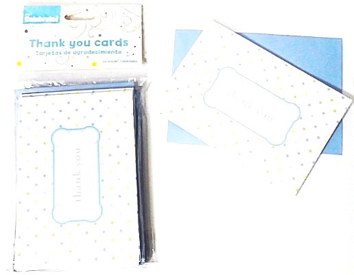 Boy Polka Dot Thank You 10 Ct