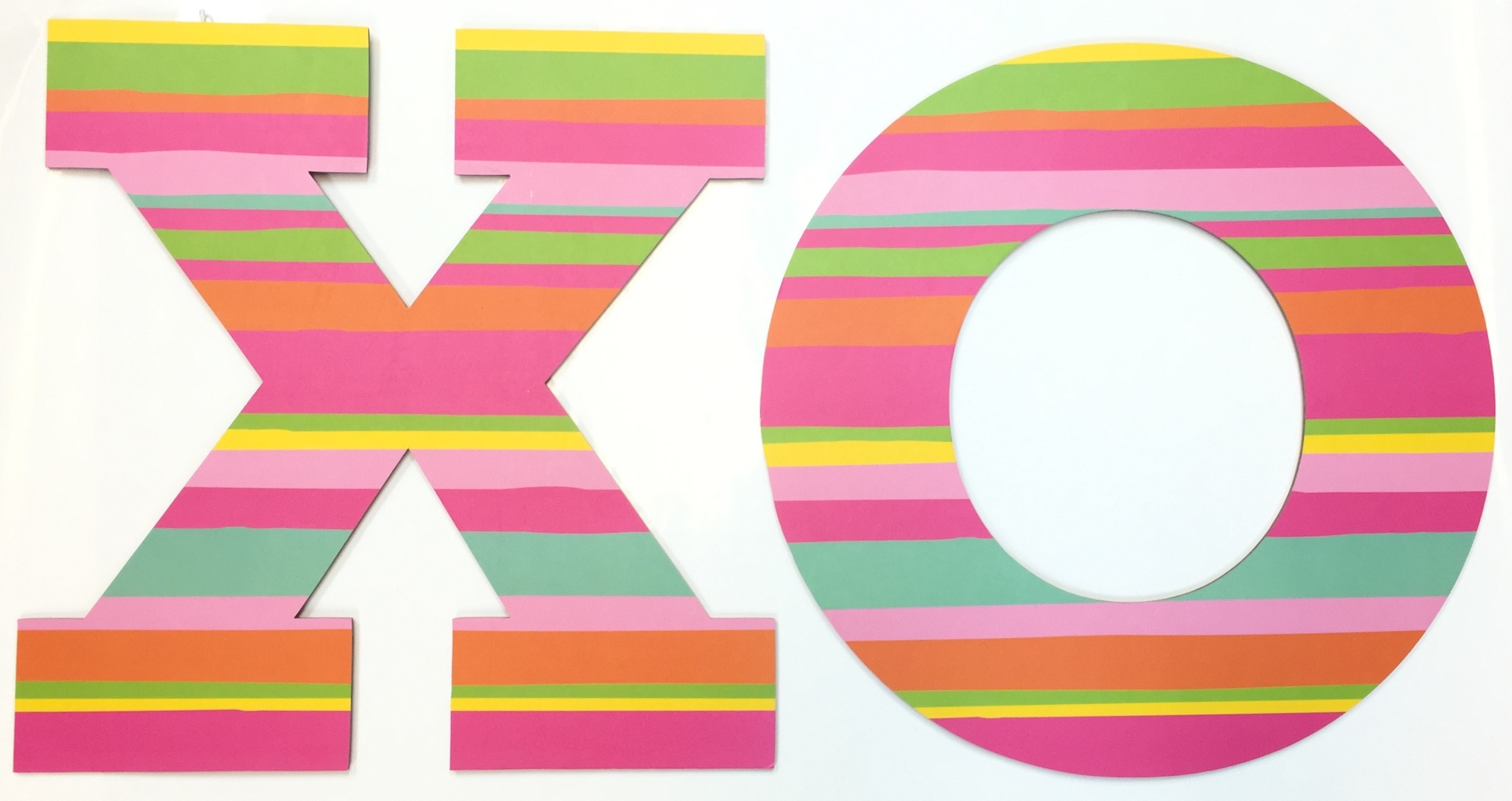 "12"" Pink XO Letter Set/2"