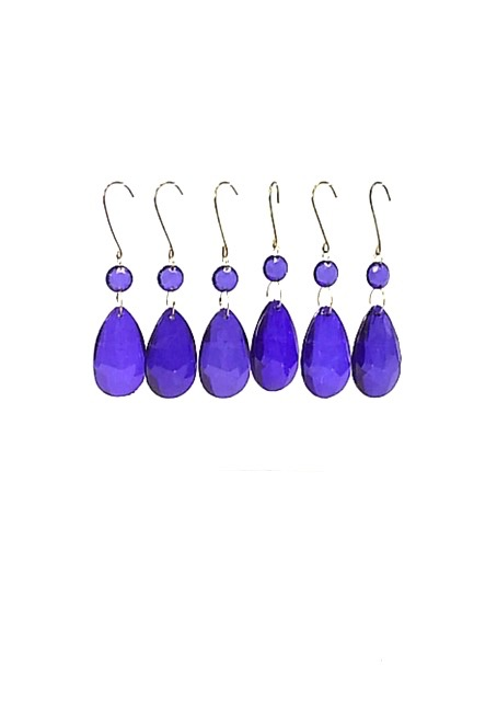 Blue Acrylic Teardrop Pendants