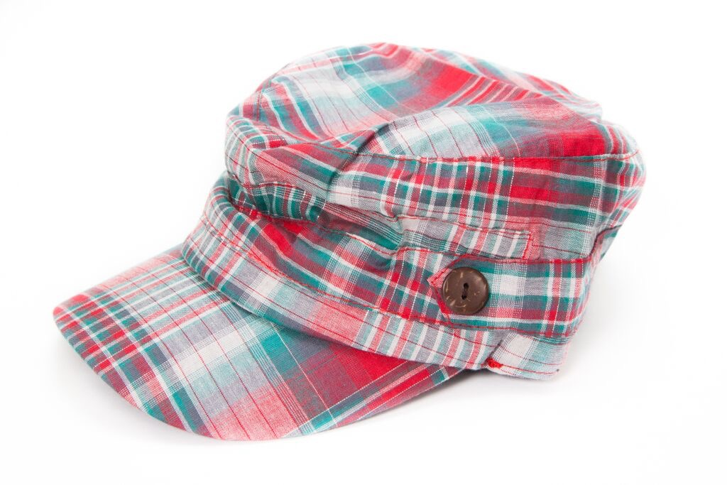 Red/blue Plaid Hat