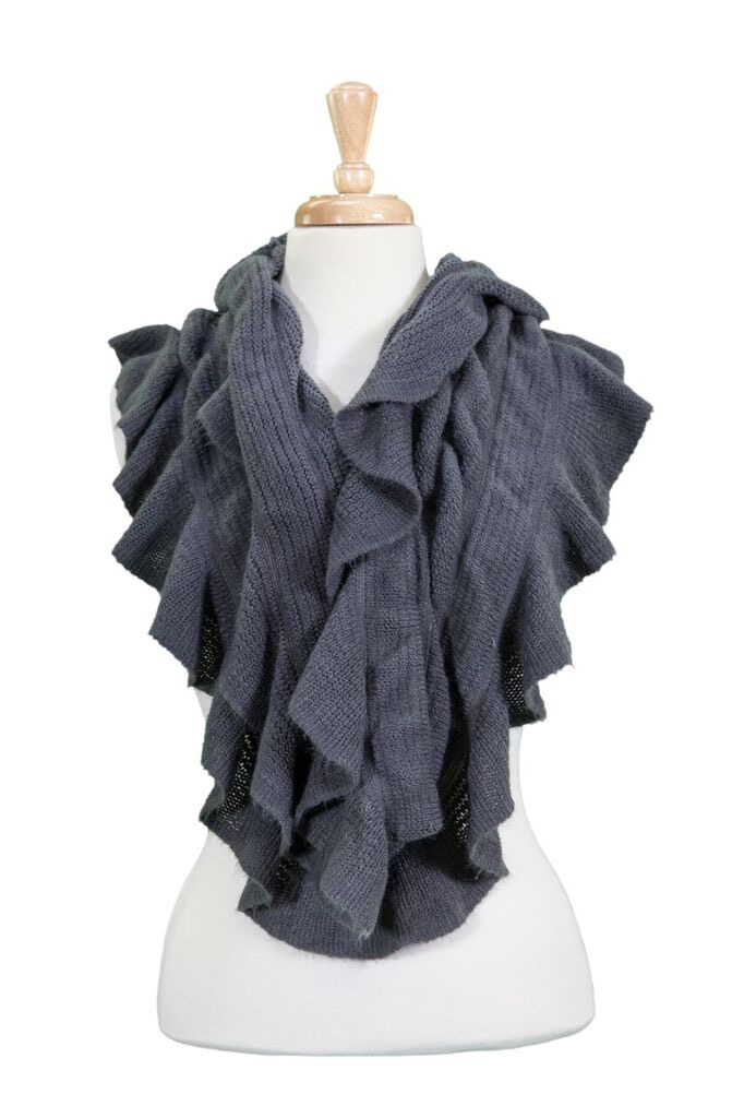 Soft Winter Infinity Scarf Asst*