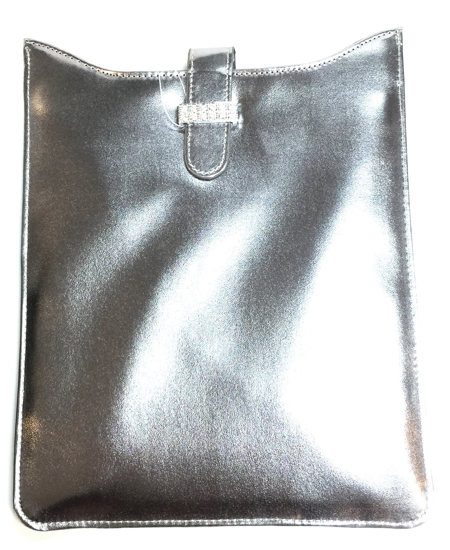 Silver Faux Leather Tablet Case