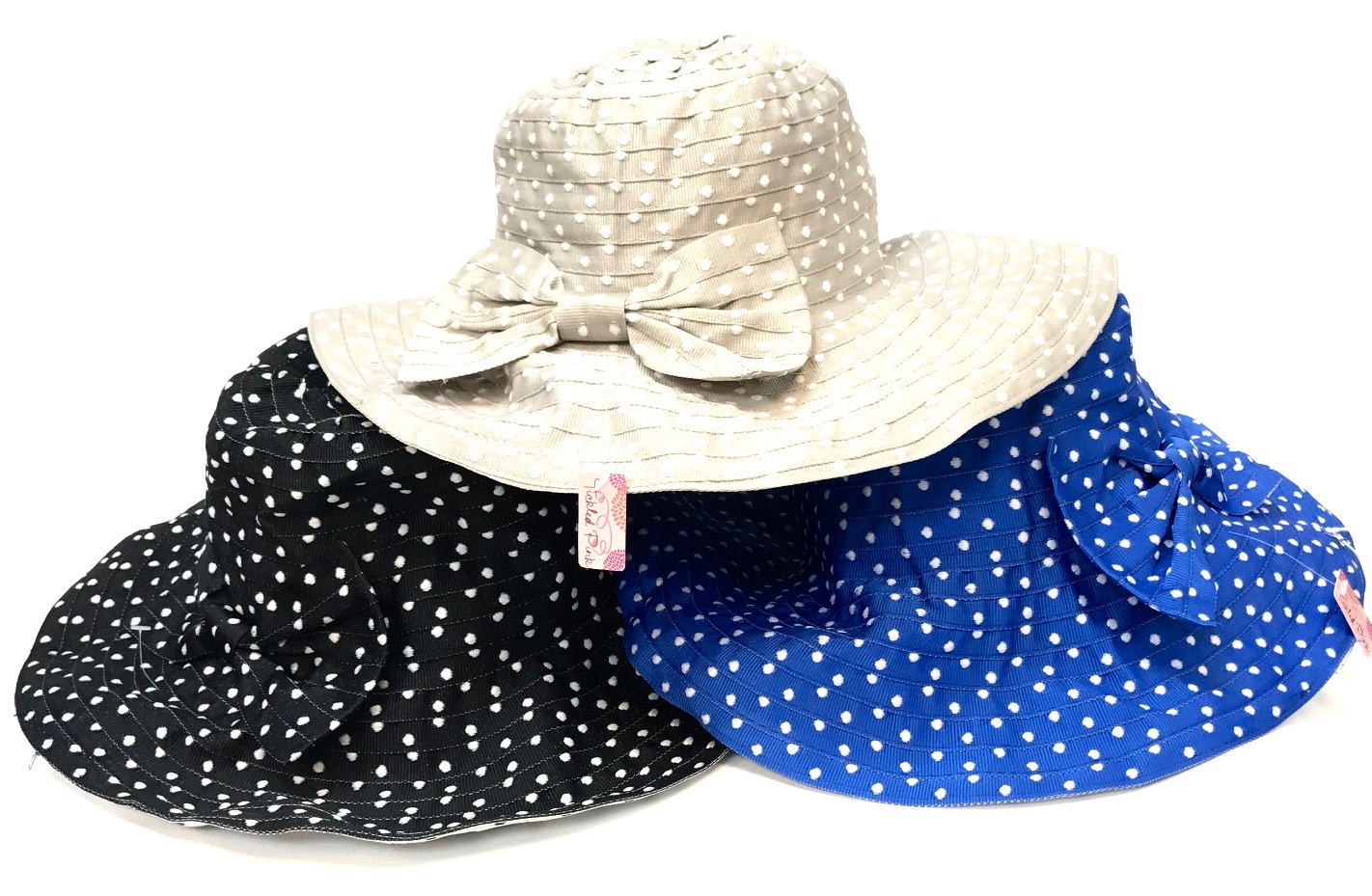 Cheerful Polkadot Garden Hat Asst