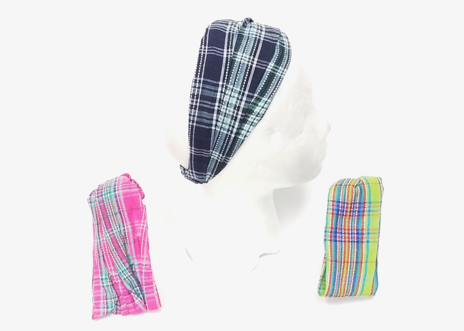 Vibrant Plaid Headband Asst