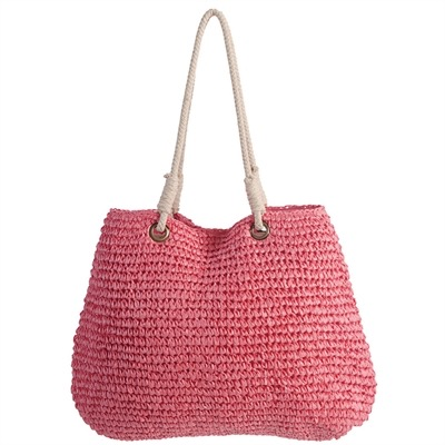 21x16 Handwoven Tote - Pink