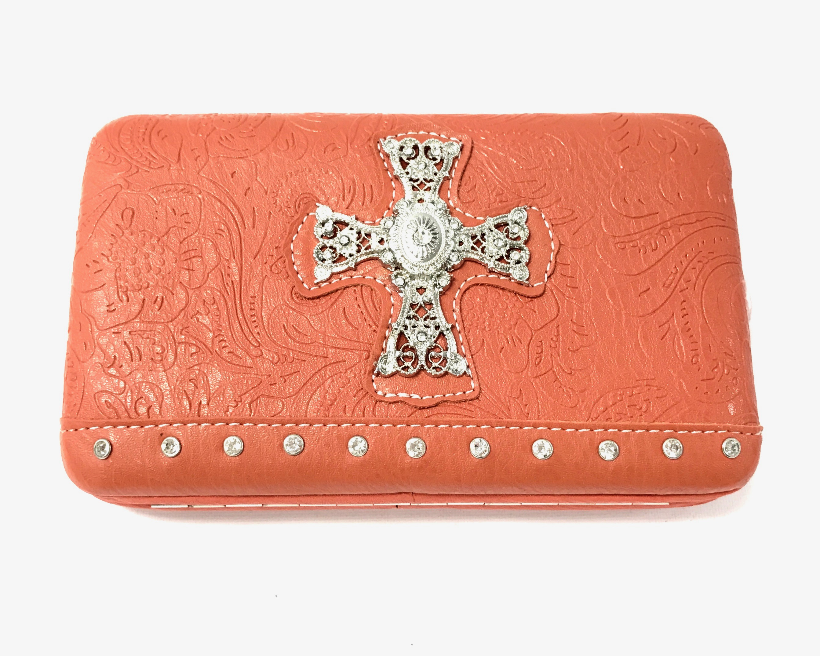 Fashion Wallet With Cross - Orange