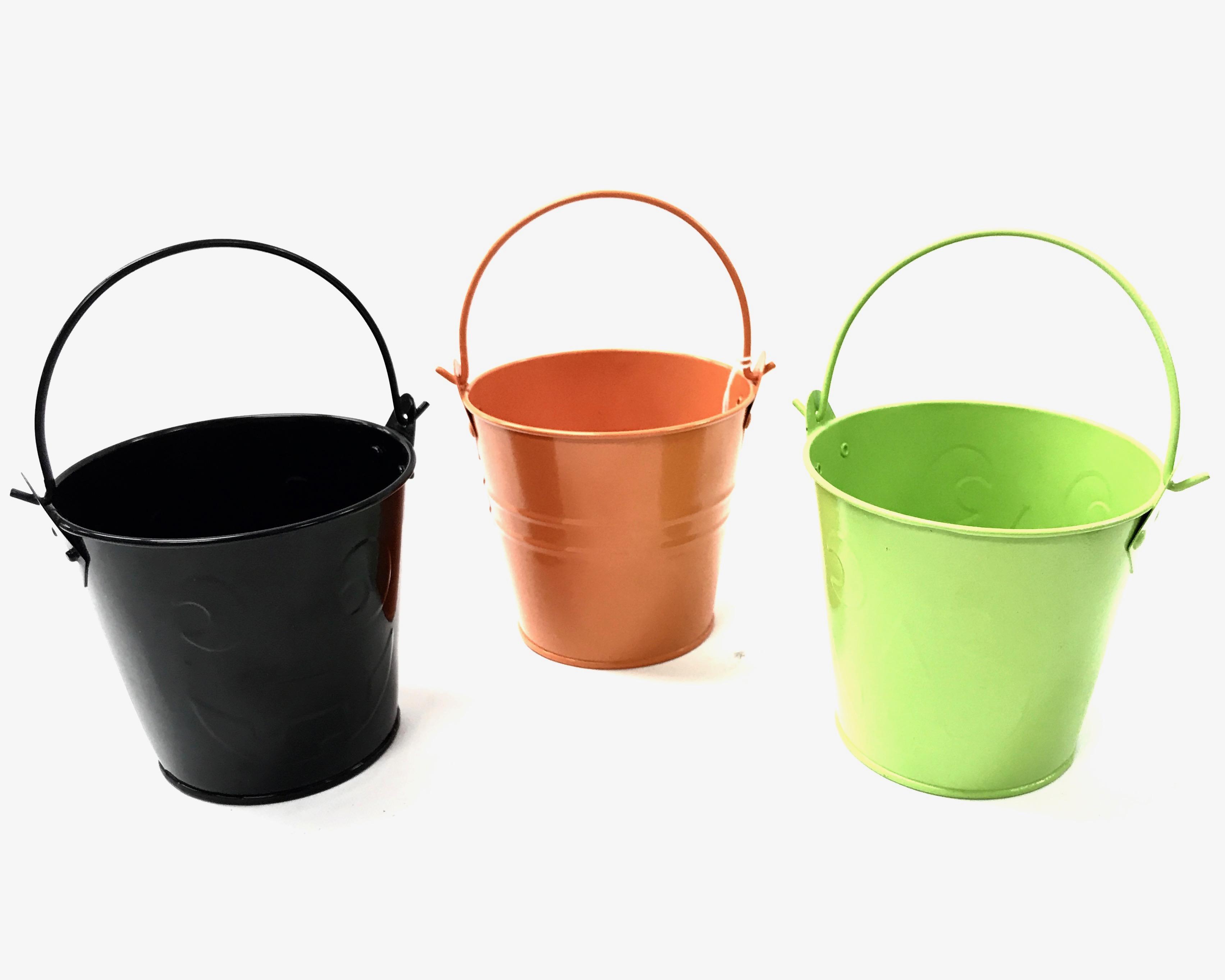Canadian Wholesale Home Decor Tin Buckets Green Black Orange Asst Axbcr56444 0 39