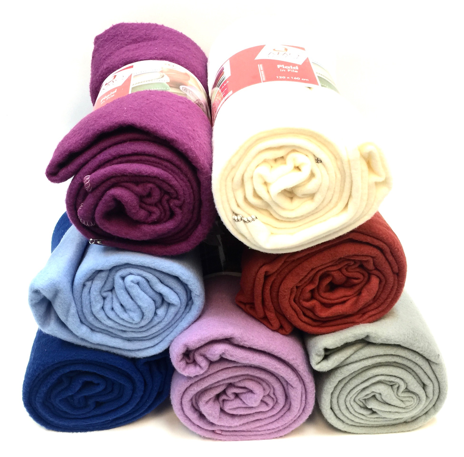 Blanket 120cm X 160cm - Solids Colors