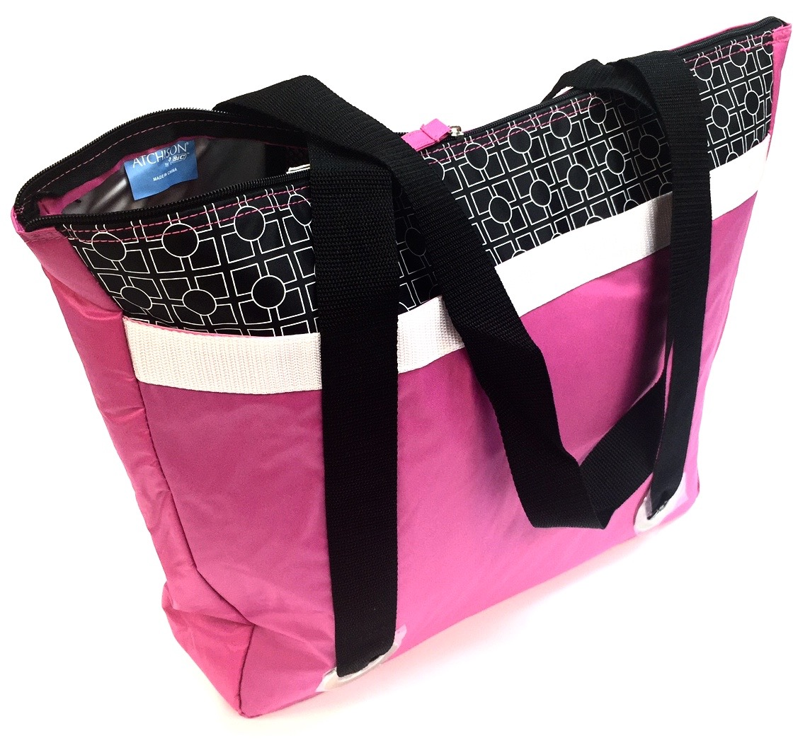 Insulated Cooler Tote Fuschia 20x15