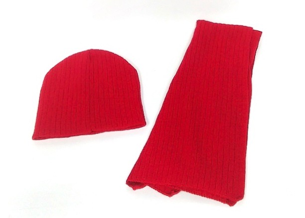 (124586) Hat & Scarf Set - Red