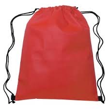 (114484) Drawstring Bag Red 6x8