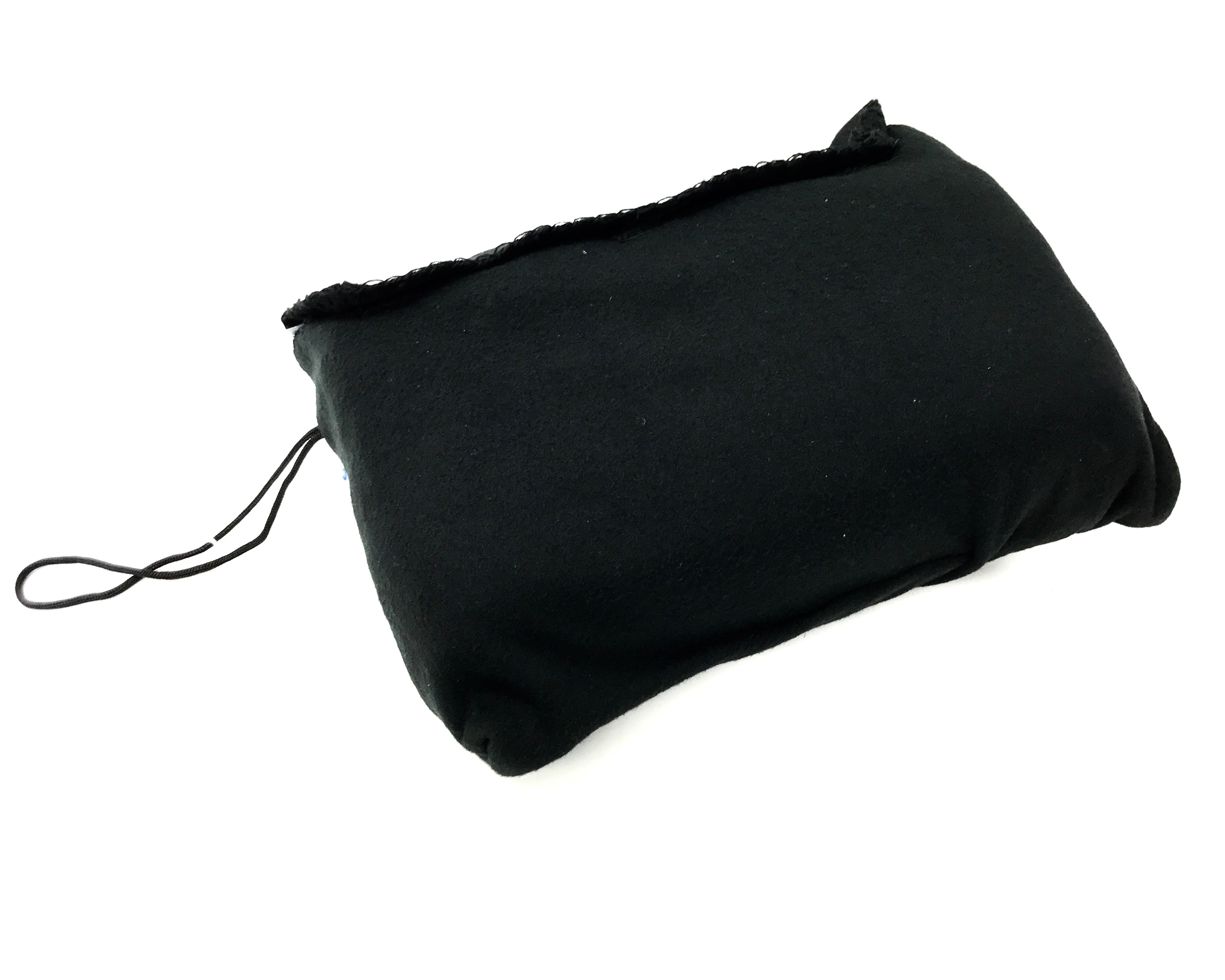 (4526105) Travel Blanket With Pillow - Black