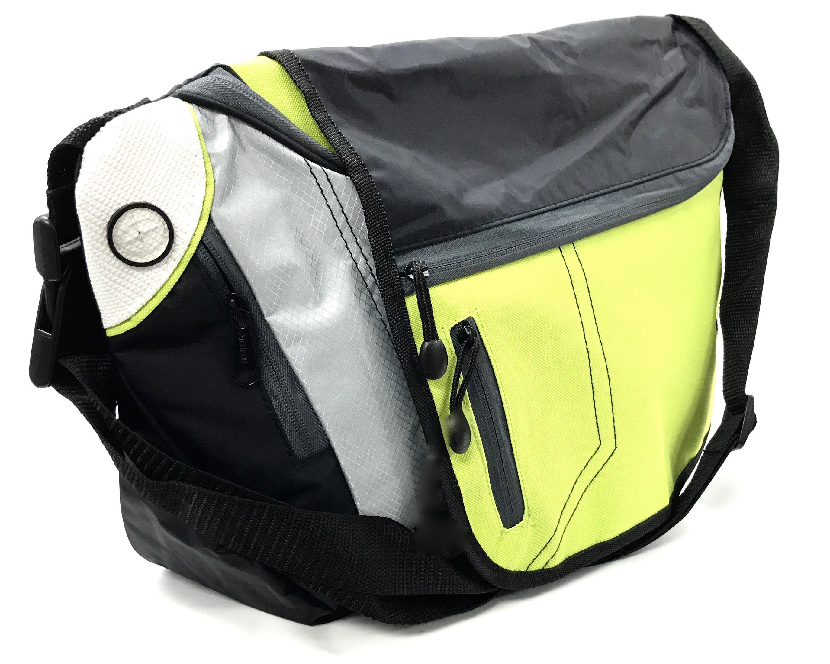 (0016362) Fast Lane Convertible Messenger Bag - Apple Green