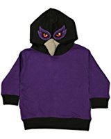 Toddler Animal Hoodie - Purple Raven