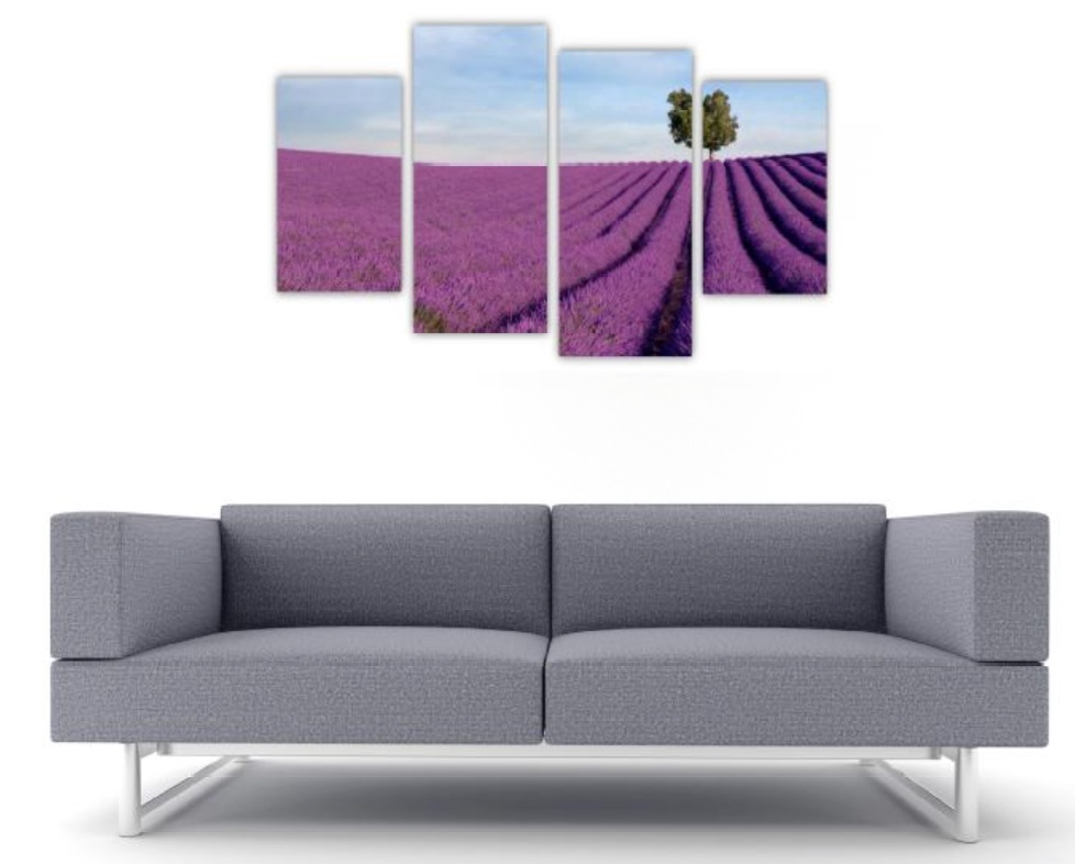 4 Pc Canvas Art Set - Lavender Fields