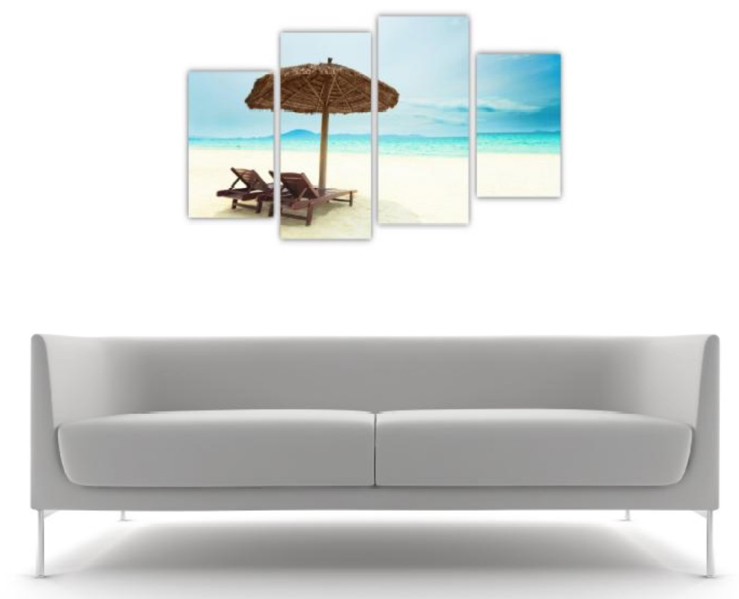 4 Pc Canvas Art Set - Paradise Beach