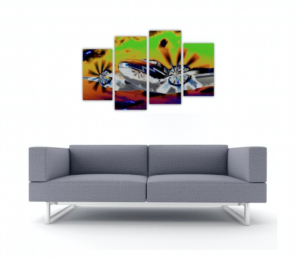 4 Pc Canvas Art Set - Flying High