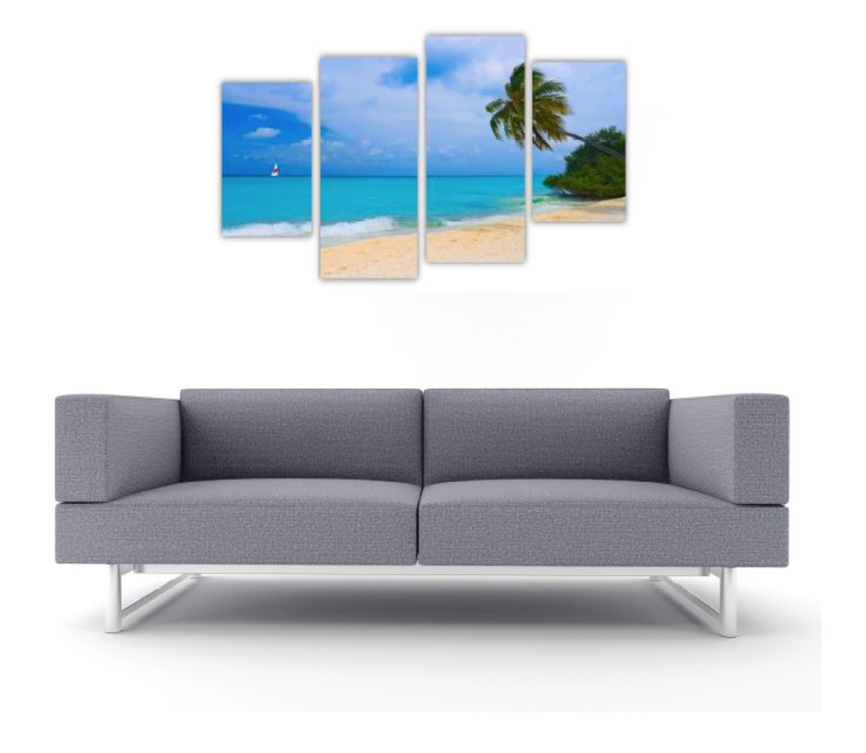 4 Pc Canvas Art Set - Deserted Beach
