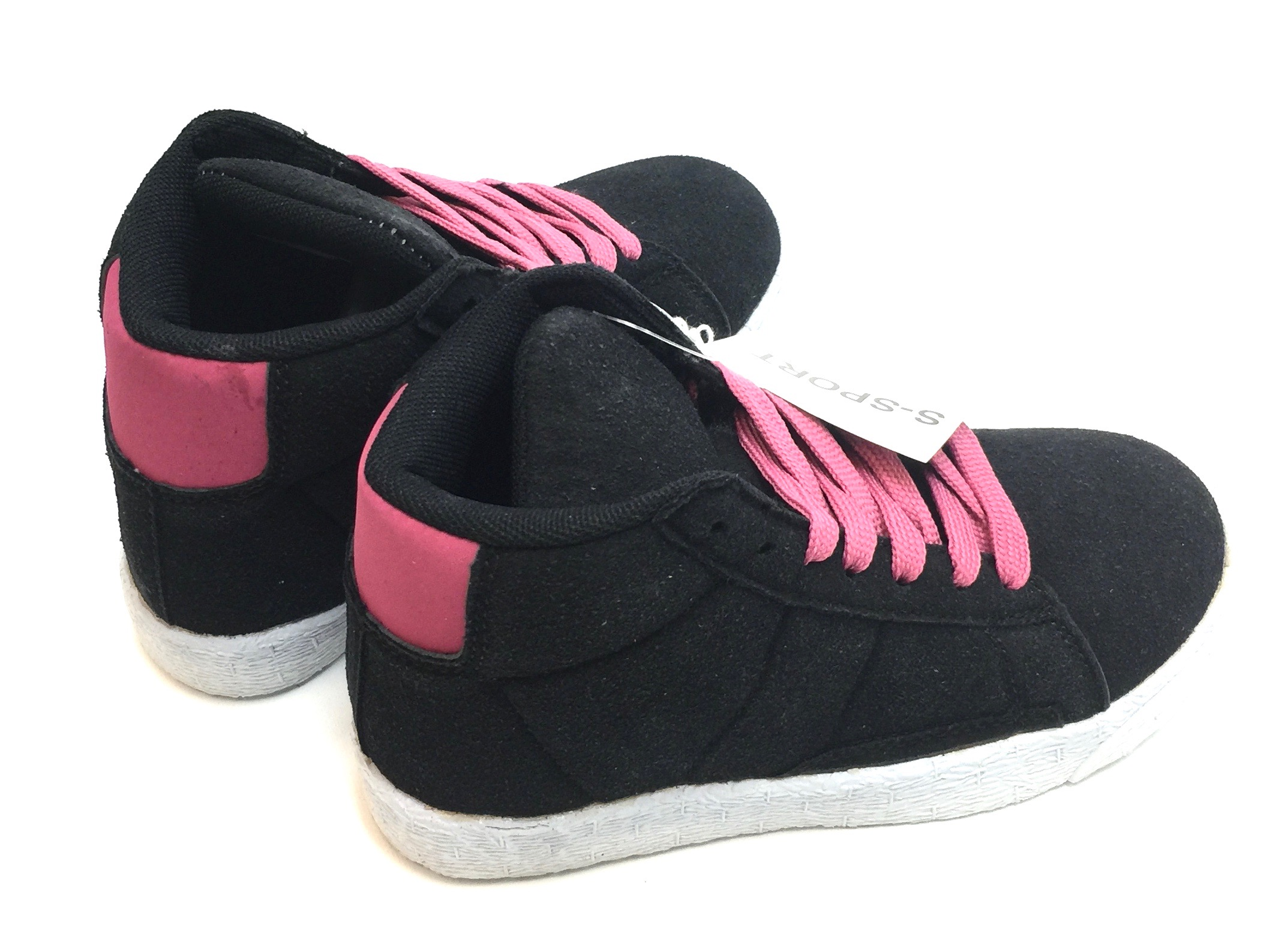 Kids Hightop Sneaker Black/Pink