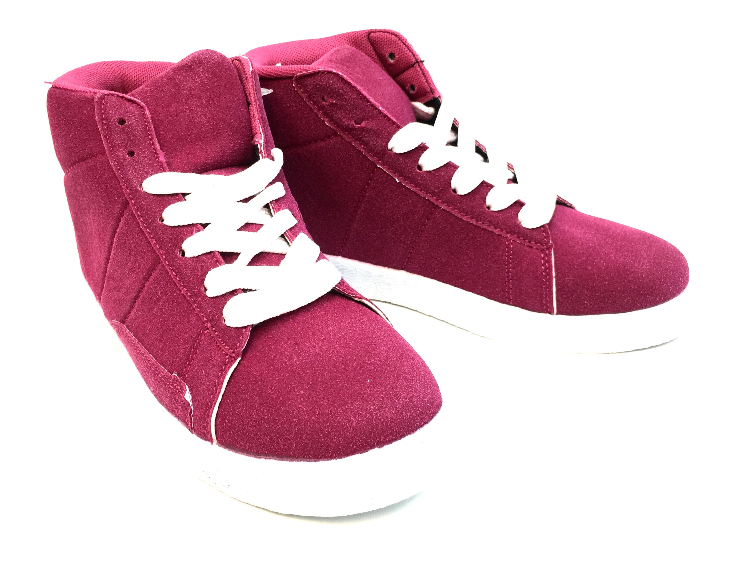 Kids Hightop Sneaker Fuscia/White