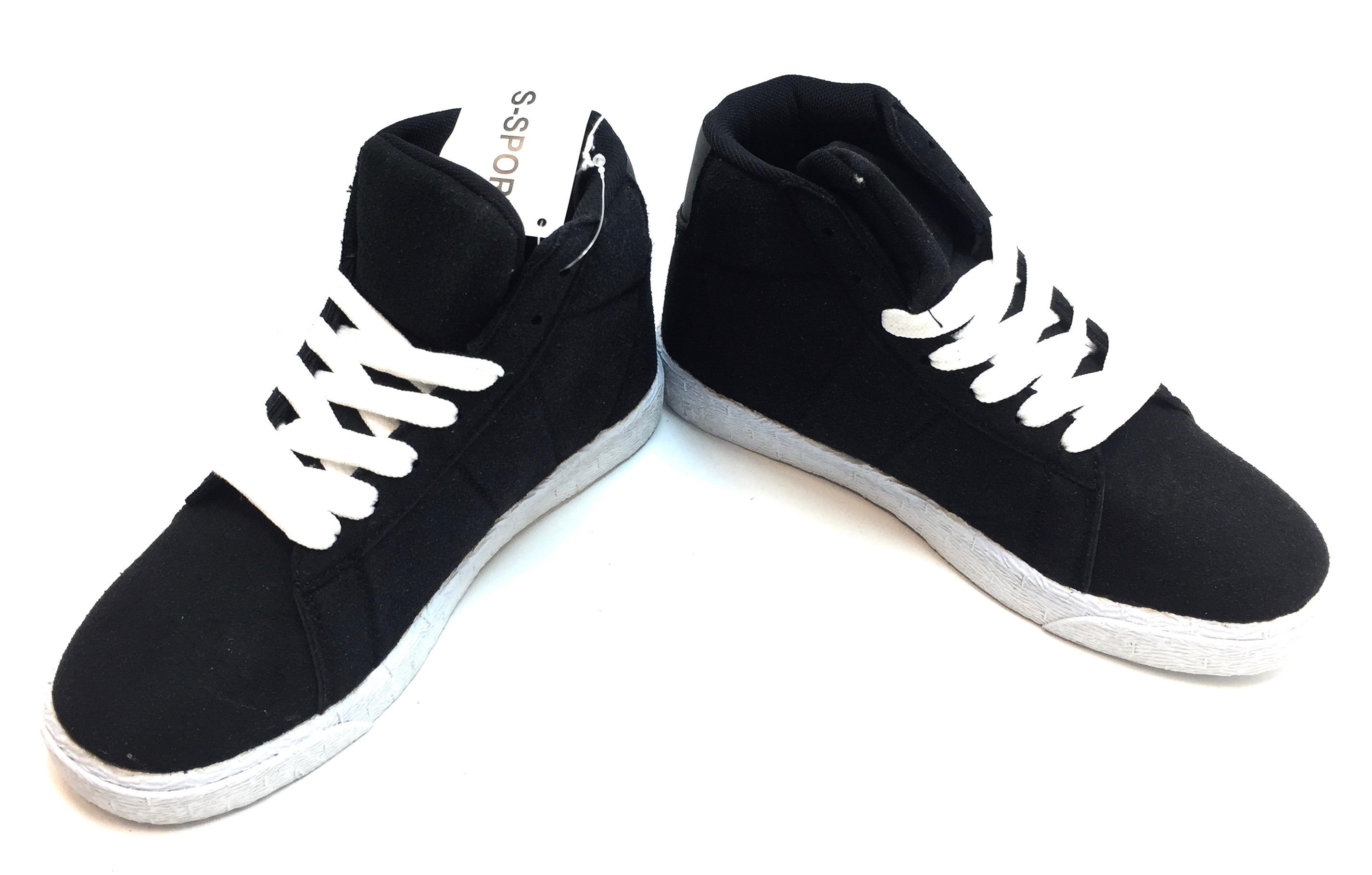 Womens Hightop Sneaker Black/White