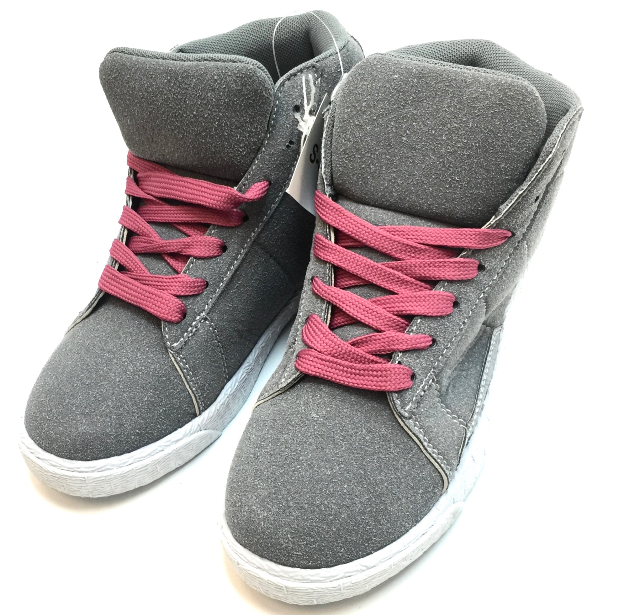 Womens Hightop Sneaker Grey/White