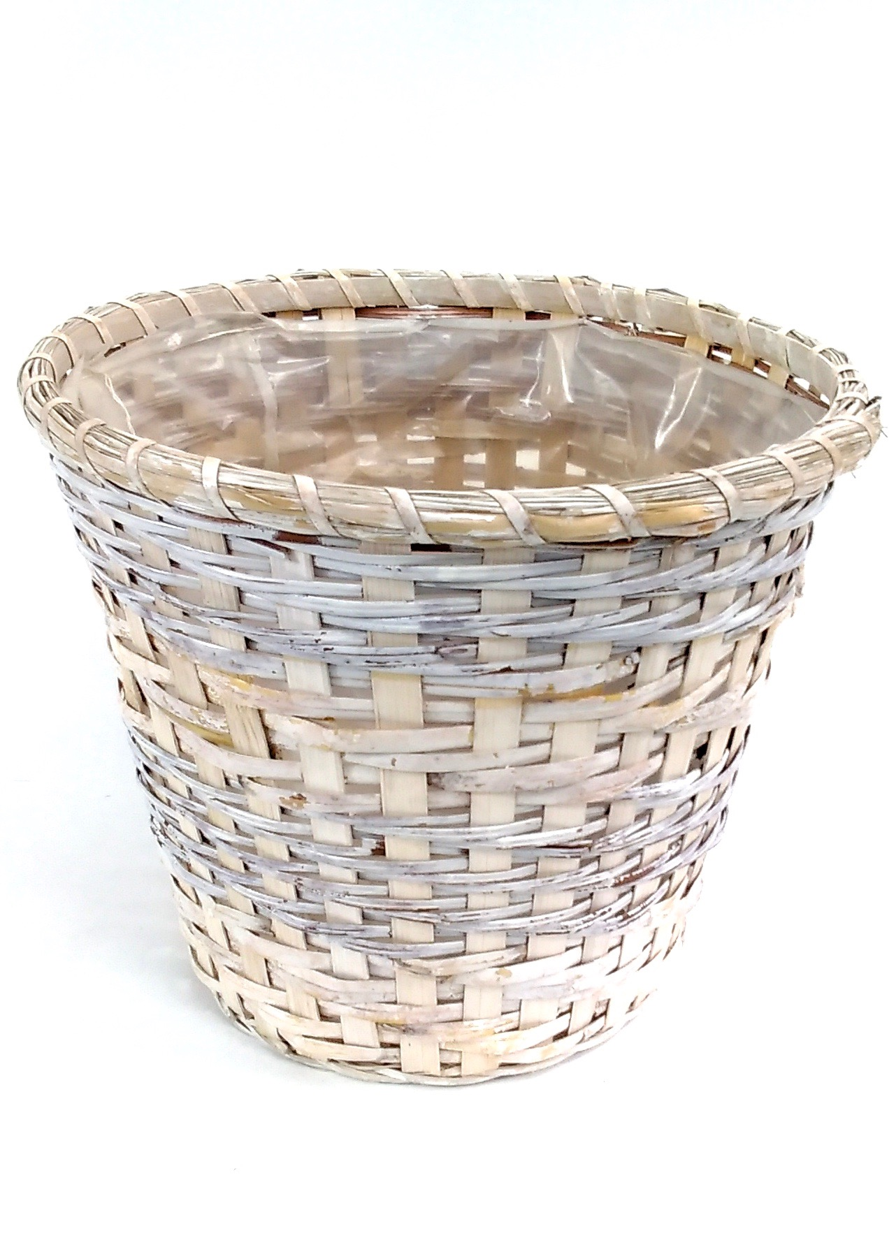 "10"" White Basket With Liner"