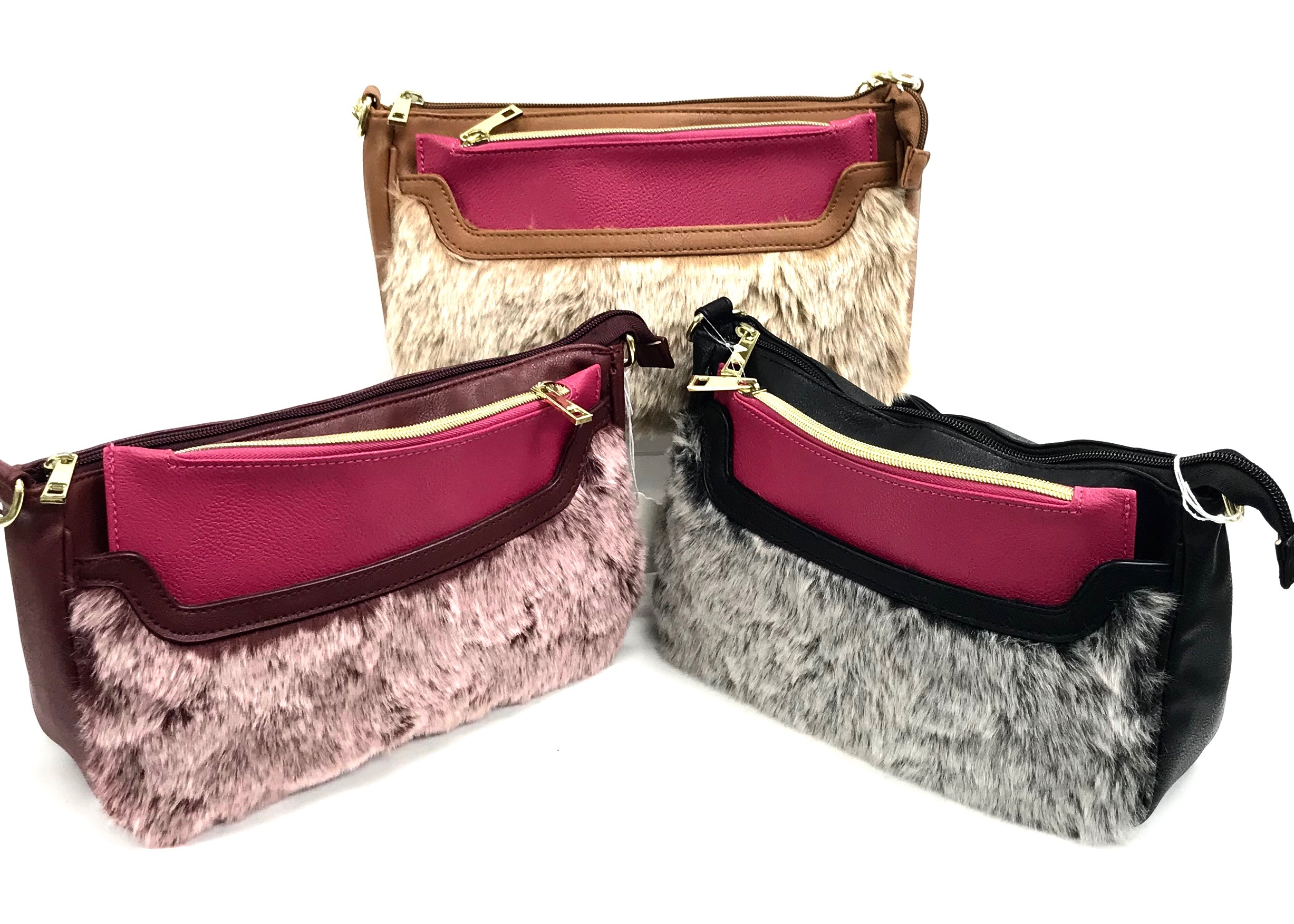 Fur Satchel With Insert 3/A