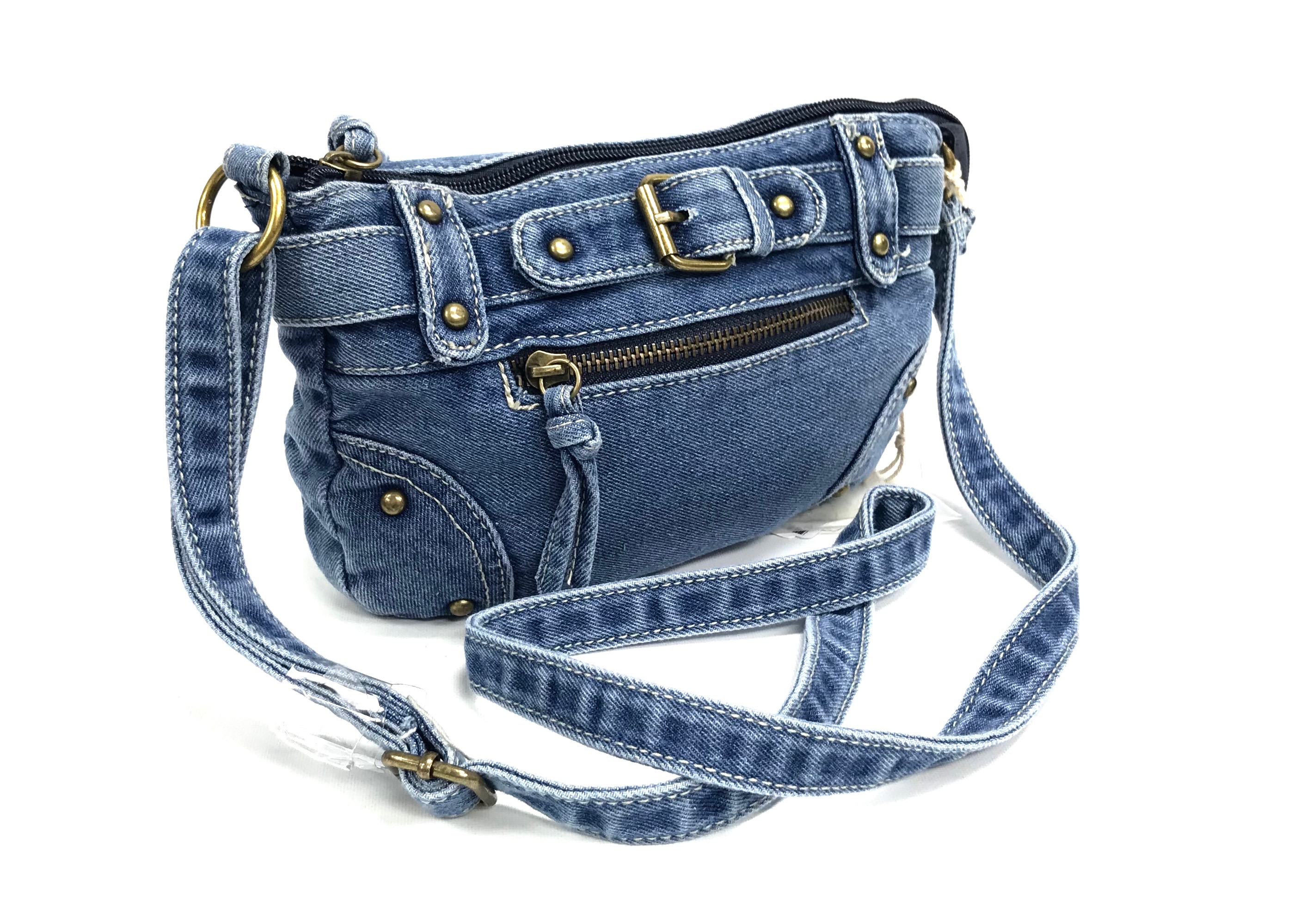 Buckle Crossbody Denim