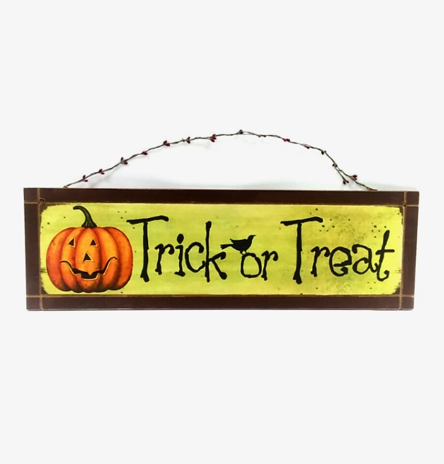 11 halloween plaque - Halloween Novelties Wholesale