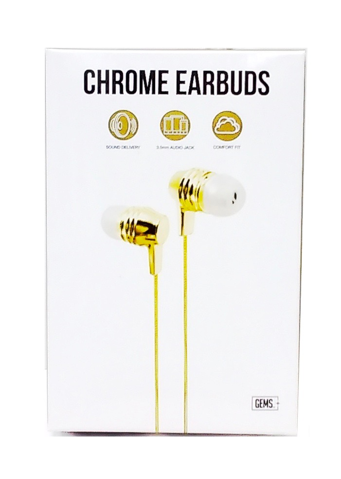 Earbuds Gold Chrome