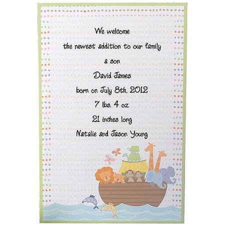 Invitations 12 Ct Noahs Ark