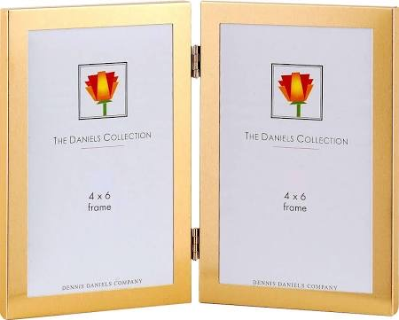 4x6 Double Vertical Frame Gold