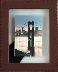 4x6 Leather Floating Frame Chocolate*