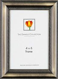 4x6 Steel Braided Frame Antique Brass