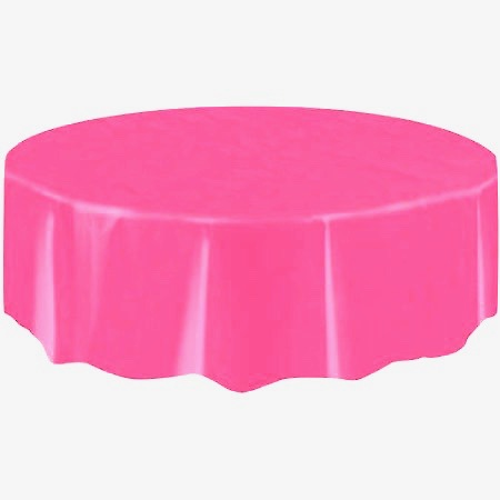 "Round Table Cover 84"" - Pink"