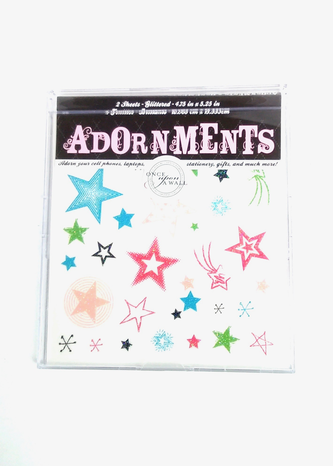 Adornment Glitter Stars Peel & Stick