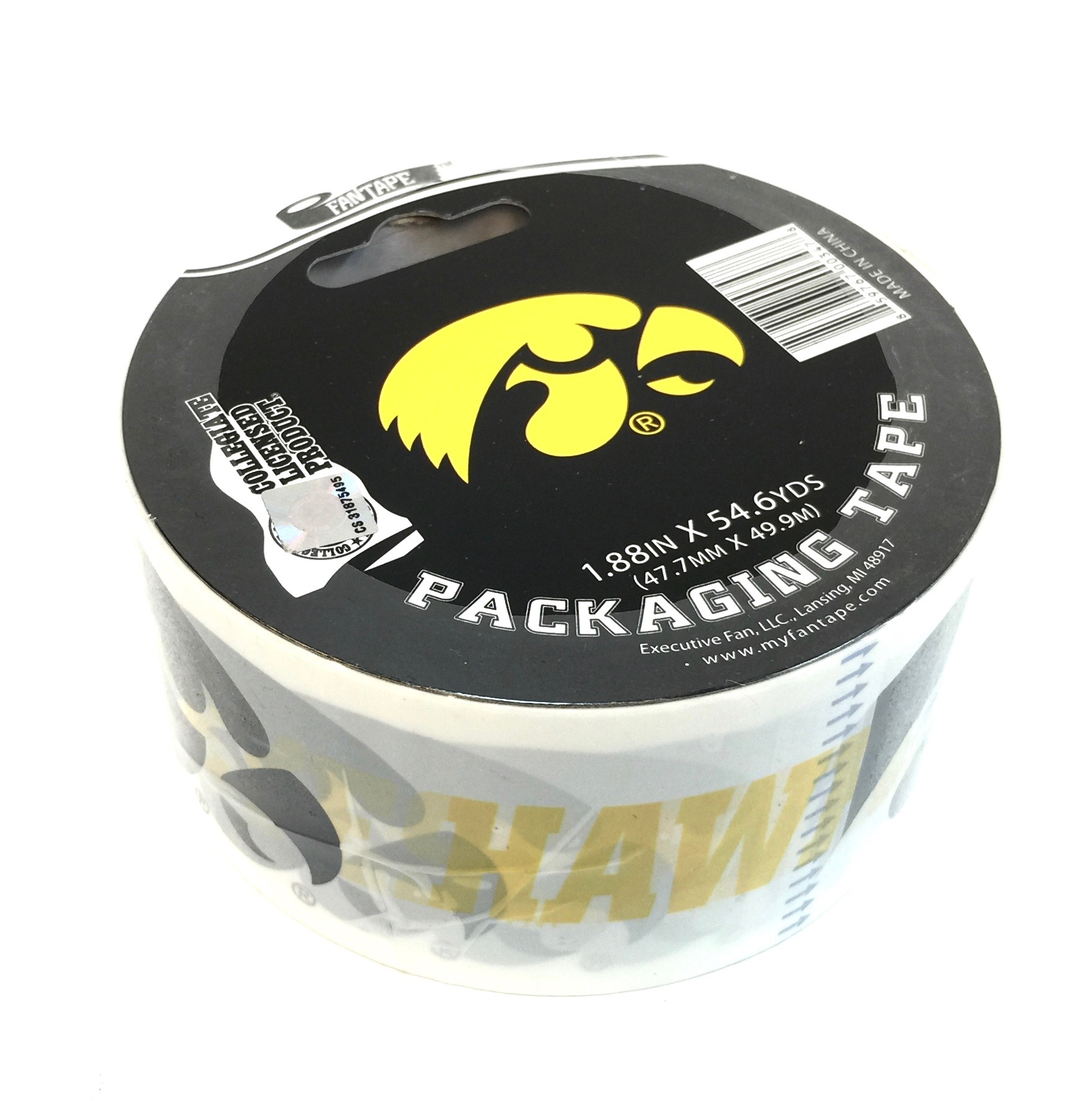 (003478) Packing Tape - Iowa Hawkeyes