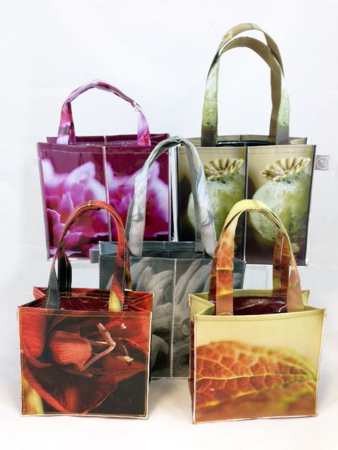 Floral Print PVC Gift Bags