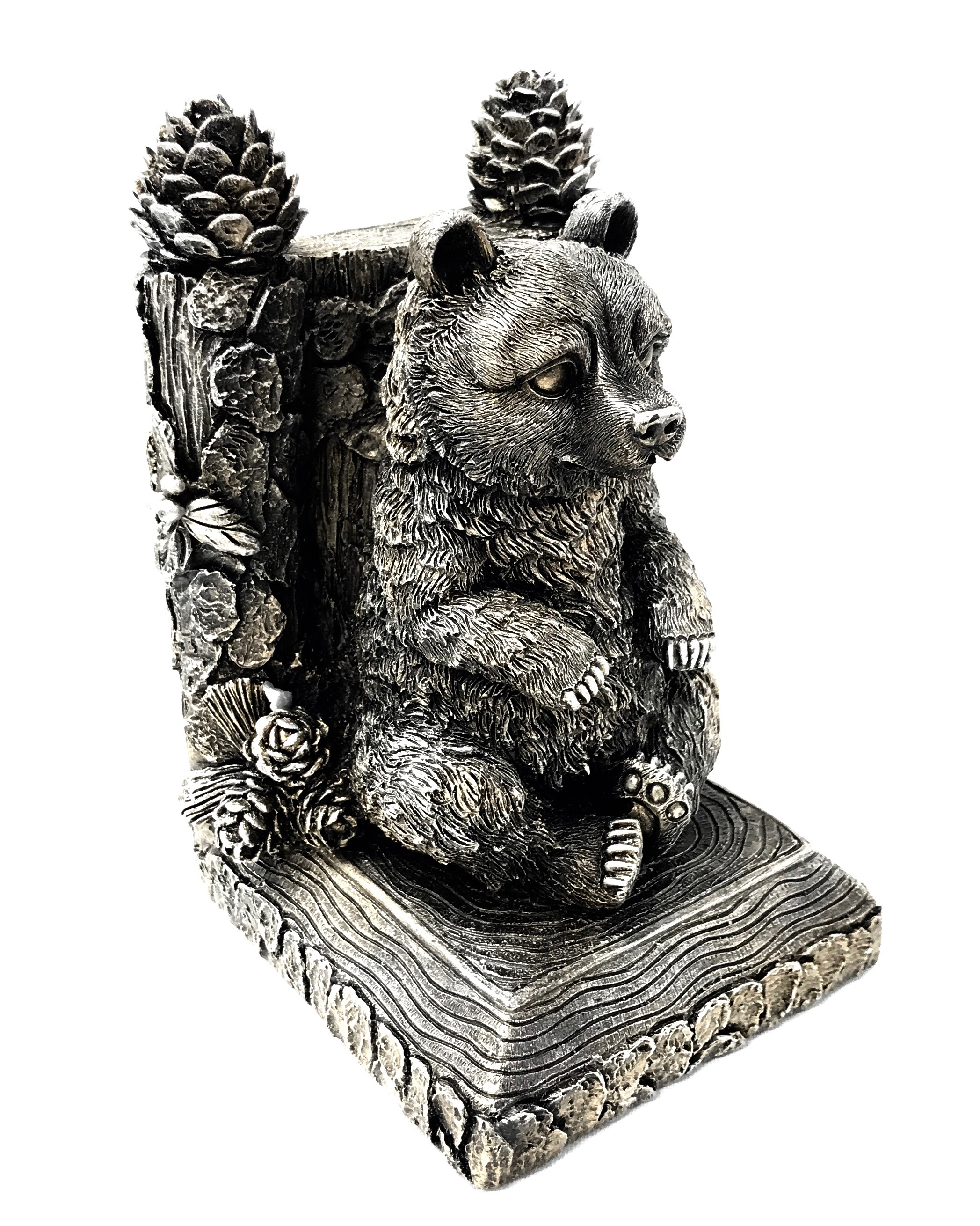 Bear Bookend Pewter