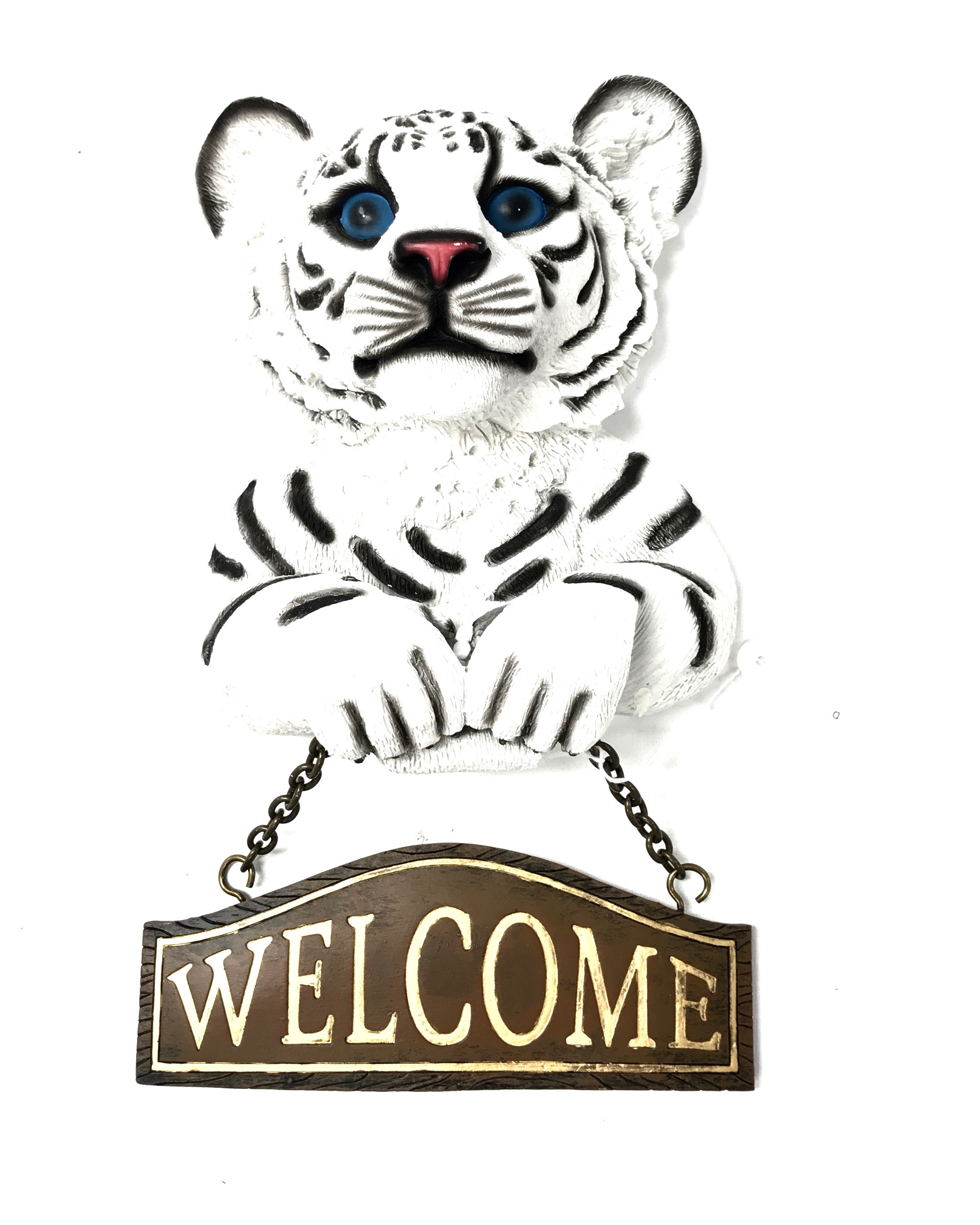 White Tiger Welcome Sign